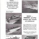 1956 Owens Yacht Co Ad- Photos of 4 Models