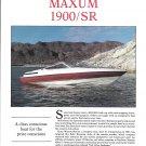 1992 Maxum 1900/ SR Boat Review & Specs- Nice Photos