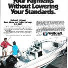 1990 Wellcraft 18' Sport Boat Color Ad- Nice Photo