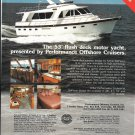 1987 Performance Offshore Cruisers Color Ad- Nice Photo 53' Flush Deck