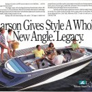 1992 Larson Legacy S-Type Boat Color Ad- Nice Photo