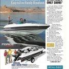 1992 Bayliner 1700 Capri Boat Color Ad- Nice Photo