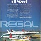 1991 Regal Boats Color Ad- Nice Photo Commodore 380 & 17' Valanti