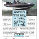1991 Alumacraft Trophy 170 Boat Color Ad- Nice Photo