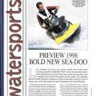 1998 Sea- Doo Bombardier Watercraft Review & Photos