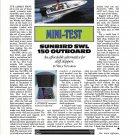 1989 Sunbird SWL 150 Outboard Boat Review & Specs- Photo