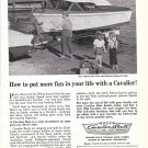 1958 Cavalier Boats Ad- Nice Photo 19' Semi- Enclosed