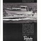 1965 Pembroke Boats Ad- Nice Photo of 1966 32' Cabin Cruiser