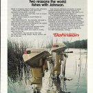1972 Johnson Outboard Motors Color Ad- Nice Photo 9.5 & 6 HP.
