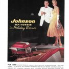 1956 Johnson Sea- Horse Holiday Bronze 30 HP Outboard Motor Color Ad-Hot Girl