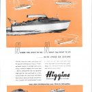 Old Higgins 26' Sport Cruiser Boat Ad- Nice Photo
