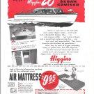 1949 Higgins 26' Deluxe Sedan Cruiser Boat Ad- Drawing