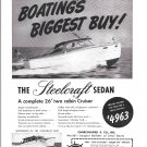 1949 Steelcraft 26' Two Cabin Cruiser Yacht Ad- Nice Photo