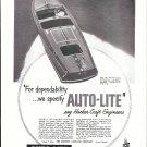 1953 Auto- Lite Spark Plugs Ad- Nice Photo 26' Hacker- Craft Boat