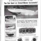 1949 Stewart- Warner Ad- Nice Photo Higgins Eureka Boat