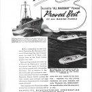 1942 WW II Haskelite Marine Plywood Ad-Photos og Higgins & Fisher War Boats
