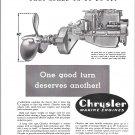 1941 Chrysler Marine Engines Ad- Drawing of Chrysler Ace