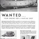 1943 Gray Marine Motor Co Ad- Nice Photo of Boat