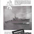 1944 WW II Hubbard's South Coast Co Ad- Nice Photo War Boat 42