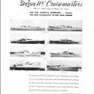 1948 Defoe Shipbuilding Co Ad- 8 Photos of 118' Cruisemasters
