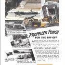 1944 WW II Federal Mogul Ad- Drawings of War Boats