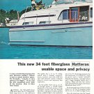 1968 Hatteras 34 Yacht 2 Page Color Ad- Nice Photo