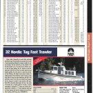 2004 Nordic Tug 32 Fast Trawler Color Ad- Specs & Photo