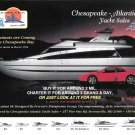 1996 Azimut 65 Yacht Color Ad- Nice Photo- Ferrari Car