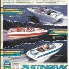 1996 Stingray Powerboats Color Ad- Photo of 556zp- 606zp- 656zp
