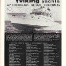 1974 Viking 40' Fiberglass Sedan Fisherman Yacht Ad- Nice Photo