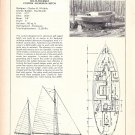 1973 Charles Wittholz 32' Yacht Ad- Specs- Photo- Drawing