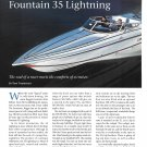 2000 Fountain 35 Lightning Boat Review- Specs & Nice Photos