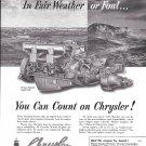1951 Chrysler Marine Engines Ad- Nice Photo Model M- 49