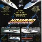 2005 Howard Custom Boats Color Ad- Photos of 6 Models