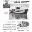1952 Chris- Craft Marine Engines Ad- Nice Photo Gillnetter Ads- Lyn