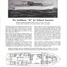 1953 Holland American Yachts ad- Nice Drawing Caribbean 64