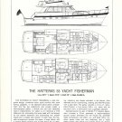 1978 Hatteras 53 Yacht Fisherman Ad- Specs & Drawings