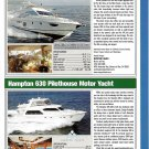 2009 Azimut 62e & Hampton 630 New Motor Yachts Ad- Specs & Photos