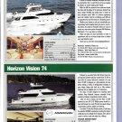 2009 Hampton 680 & Horizon Vision 74 New Yachts Ad-Specs & Photos