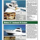 2009 Riviera 45 Flybridge & 51 Enclosed New Yachts Ad- Specs & Photos