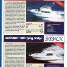 2009 Skipjack 300 & 380 Flying Bridge Yachts Ad- Specs & Photos