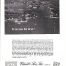 1961 Chubb Insurance Ad -Nice Photo of Blue Hill, Maine