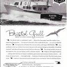 1961 Bristol 60  Gull Yacht Ad- Nice Photo