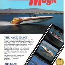 1990 Magic 230 SS Boat Color Ad- Nice Photo