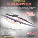 2002 Commander 31 Signature Boat Color Ad- Nice Drawing