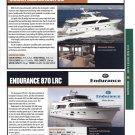 2012 Ocean Alexander 85 & Endurance 870 LRC New Yachts Ad-Photo & Specs