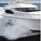 2004 Hatteras 80 Motor Yacht 2 Page Color Ad- Great Photo