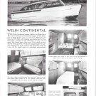 Old Welin Continental Cruiser Boat Ad- Nice Photos