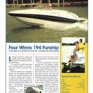 2003 Four Winns 194 Funship Boat Review- Photo & Specs