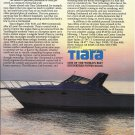 1985 Tiara 3600 Continental Yacht Color Ad- Nice Photo
